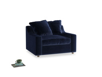 Love Seat Sofa Bed Cloud love seat sofa bed in Goodnight blue Clever Deep Velvet