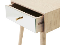 Little Trixie mirrore side table draw open