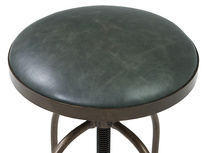 Breakfast bar stool leather top detail