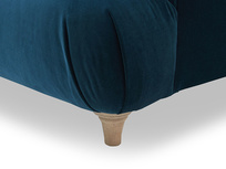 Dixie button back sofa corner leg detail