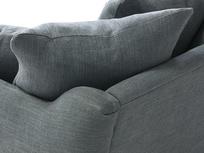 Skinny Minny love seat cushion detail
