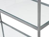 Tall Wolfie glass and metal shelf