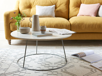 Scamp white marble top coffee table