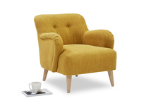 Diggidy button backed bedroom chair