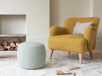 Little Cheese small upholstered footstool