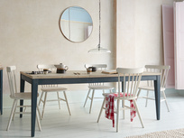 Park Up extendable inky blue wooden kitchen table