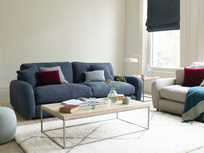 Easy Squeeze comfy low arm sofa