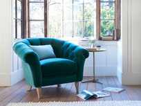 Tubbie handmade upholstered tub bedroom chair