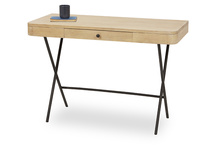 Jotter slim line oak desk