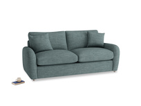 Medium Easy Squeeze Sofa Bed in Anchor Grey Clever Laundered Linen