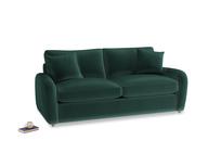 Medium Easy Squeeze Sofa Bed in Dark green Clever Velvet