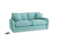 Medium Easy Squeeze Sofa Bed in Kingfisher clever cotton