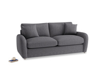 Medium Easy Squeeze Sofa Bed in Lead cotton mix
