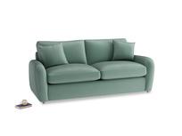 Medium Easy Squeeze Sofa Bed in Sea blue vintage velvet
