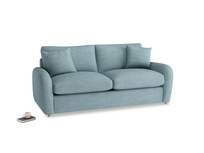 Medium Easy Squeeze Sofa Bed in Soft Blue Clever Laundered Linen