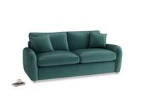Medium Easy Squeeze Sofa Bed in Timeless teal vintage velvet