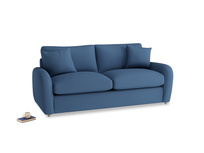 Medium Easy Squeeze Sofa Bed in True blue Clever Linen