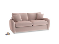 Medium Easy Squeeze Sofa Bed in Rose quartz Clever Deep Velvet