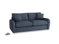 Medium Easy Squeeze Sofa Bed in Selvedge Blue Clever Laundered Linen