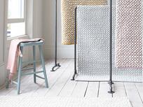 Bobble hand woven floor rugs