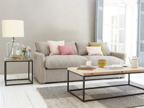 Comfy deep British made contemporary Pavilion sofa