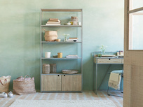 Tall Tim Slim Bookcase with Cupboards
