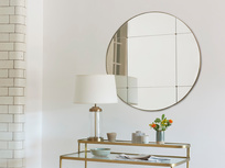 Woogie Frameless Sectional Round Mirror