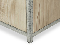 Tall Tim Rustic Storage Shelves Base Detail