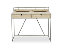 Gubbins Slim Reclaimed Wood Desk with Drawers