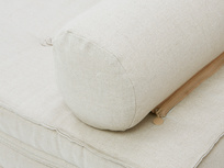 Parlay detail arm zip on bolster cushion
