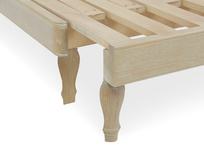 Parlay solid oak pull out daybed with clever wooden frame