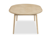 Parquet Pie round extendable kitchen table