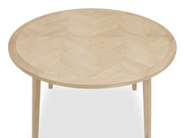 Parquet Pie parquet round table top