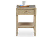Albertine Wooden Bedside Table with Drawers Front