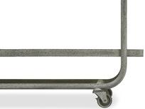Busboy Industrial Style trolley shelves side wheels detail