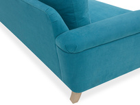 Cinema Deep Upholstered Low Arm Sofa Back Corner