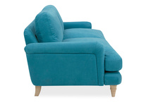 Cinema Deep Upholstered Low Arm Sofa Side