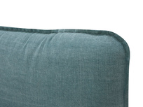 Pillow Talker feather filled headboard cushion detail