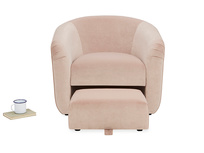 Tootsie Round Back Armchair with Footstool