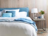 Pillow Talker comfy upholstered bed