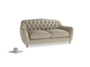 Medium Butterbump Sofa in Jute vintage linen