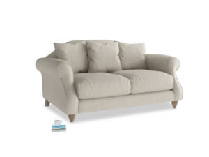 Small Sloucher Sofa in Thatch house fabric