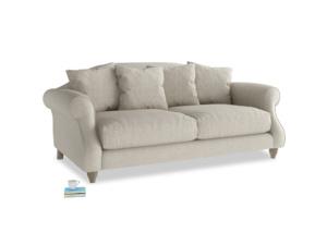 Medium Sloucher Sofa in Thatch house fabric