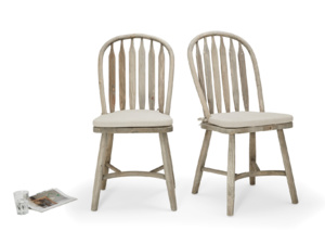Pair of Bossy Beached kitchen chairs