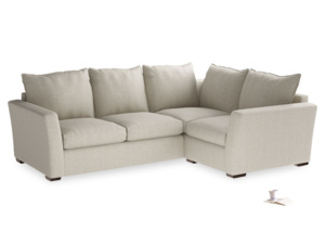 Large Right Hand Pavilion Corner Sofa in Thatch House Fabric