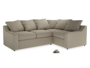 Large Right Hand Cloud Corner Sofa in Jute vintage linen