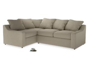 Large Left Hand Cloud Corner Sofa in Jute vintage linen