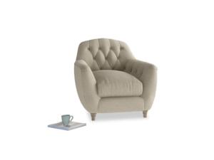 Butterbump Armchair in Jute vintage linen