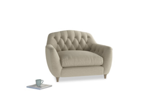 Love Seat Butterbump Love Seat in Jute vintage linen