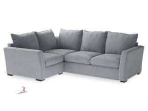 Large Left Hand Pavilion Corner Sofa Bed in Dove Grey Wool